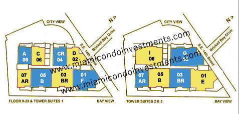 Emerald at Brickell site plan