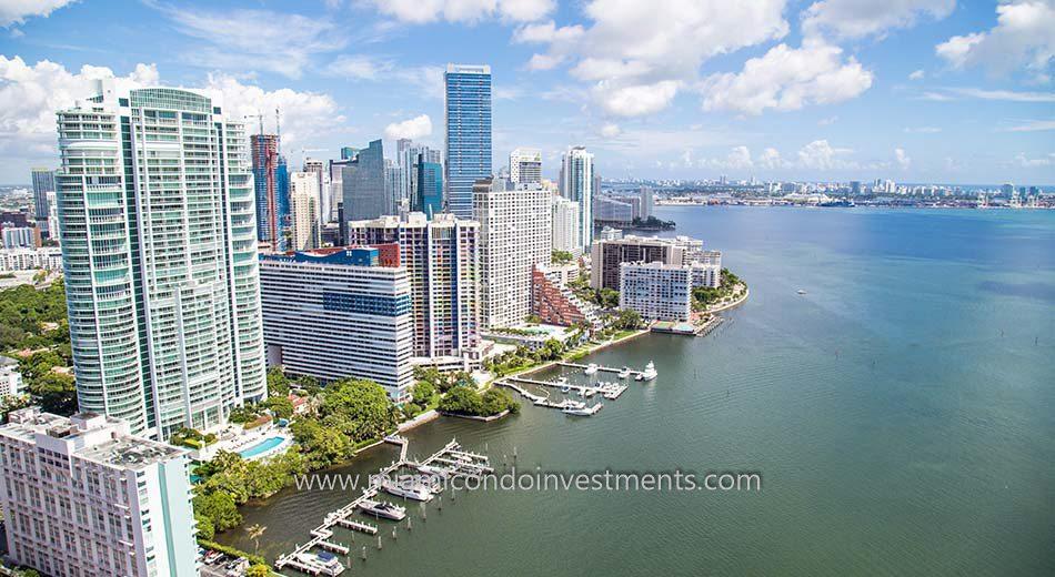 Miami condos on the bay