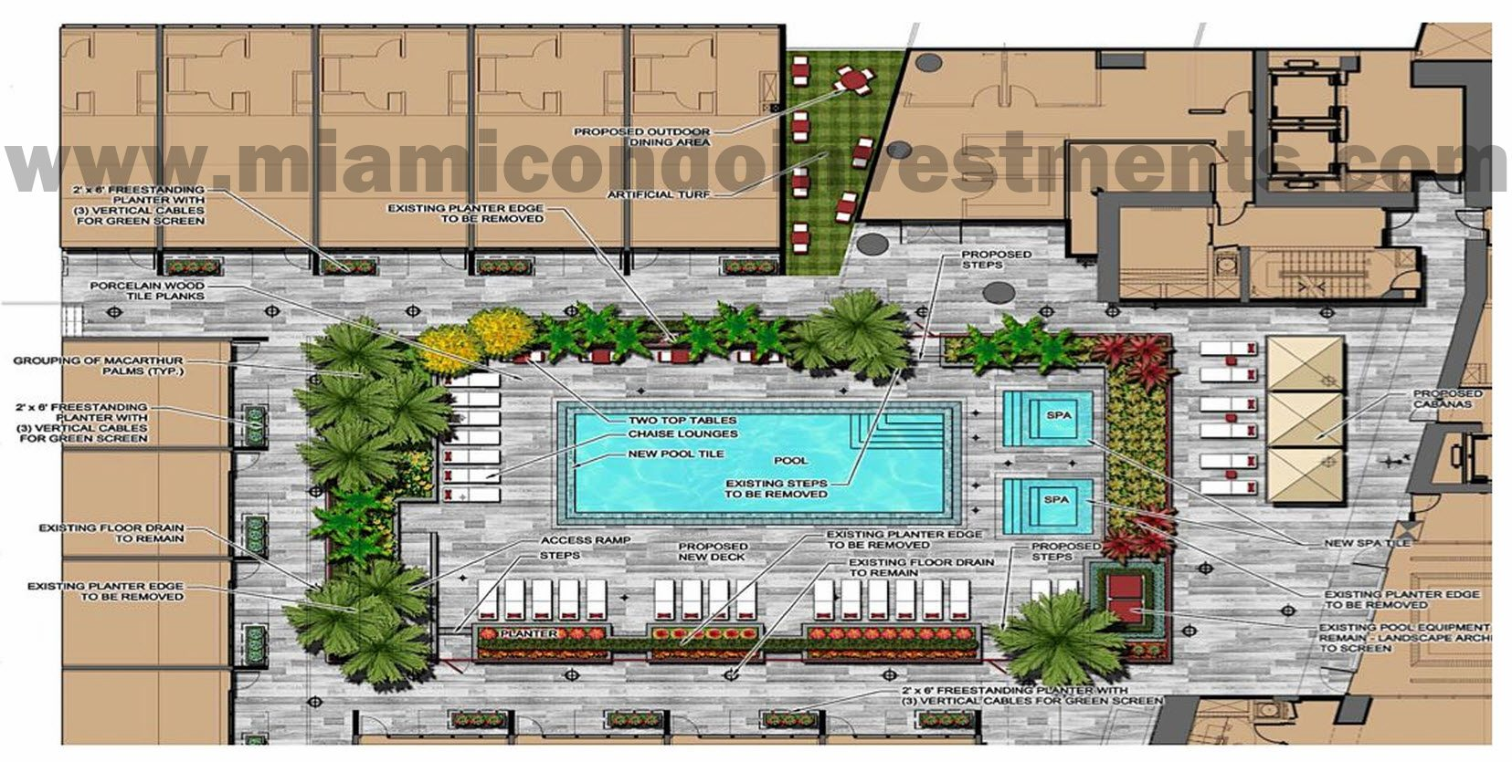 Me Miami pool deck renovation plans