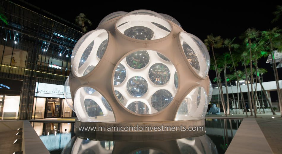 Fly's Eye Dome at Miami Design District