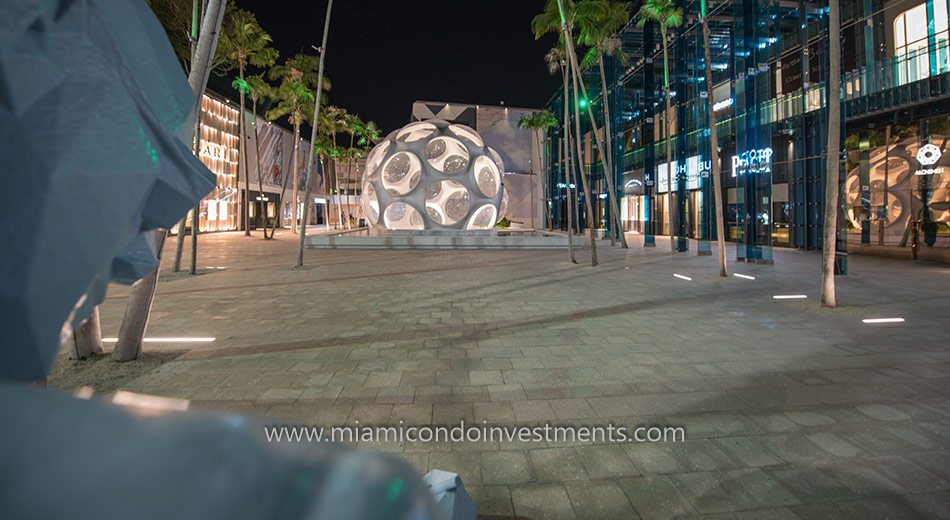 Buckminster Fuller's Fly's Eye Dome at the Miami Design District