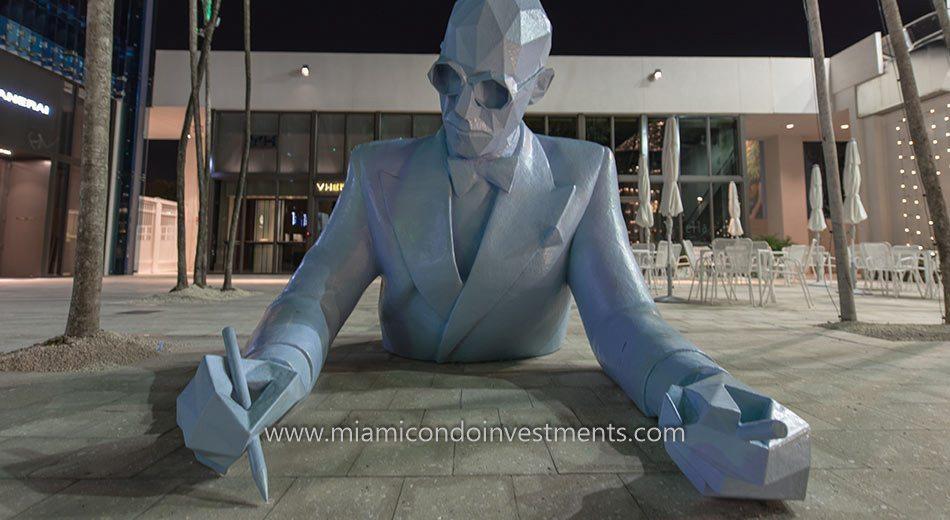 Xavier Veilhan's Le Corbusier at Miami Design District