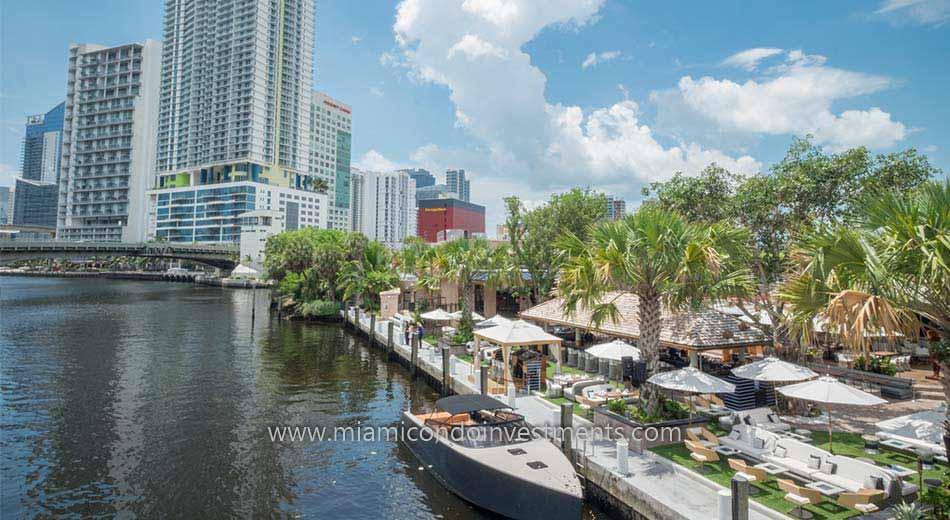 condos along the Miami River