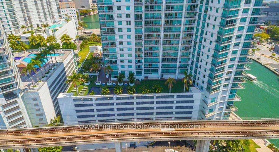 amenity deck at Mint Miami condos