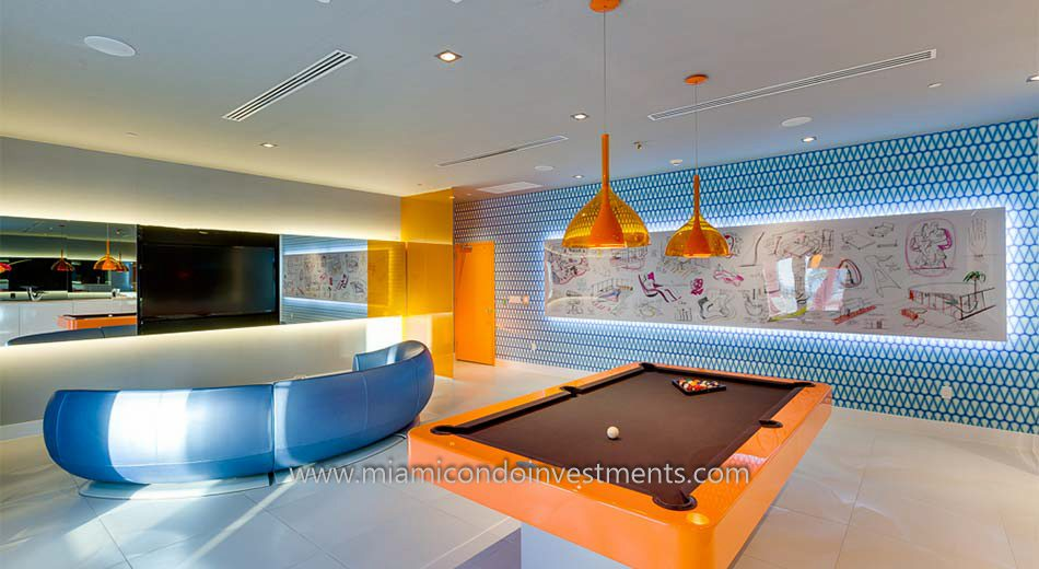 MyBrickell miami condo club room
