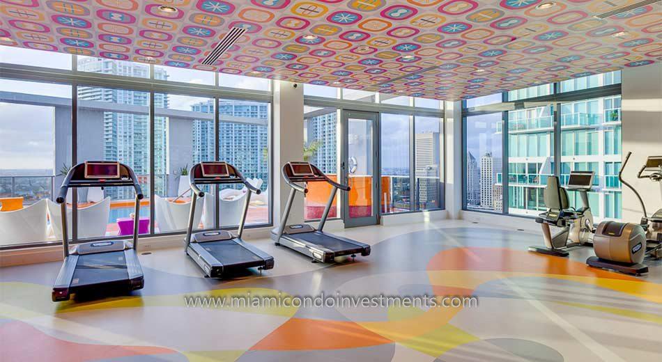 Mybrickell miami condo gym