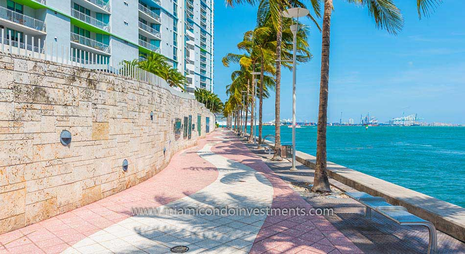 riverwalk outside One Miami West condos
