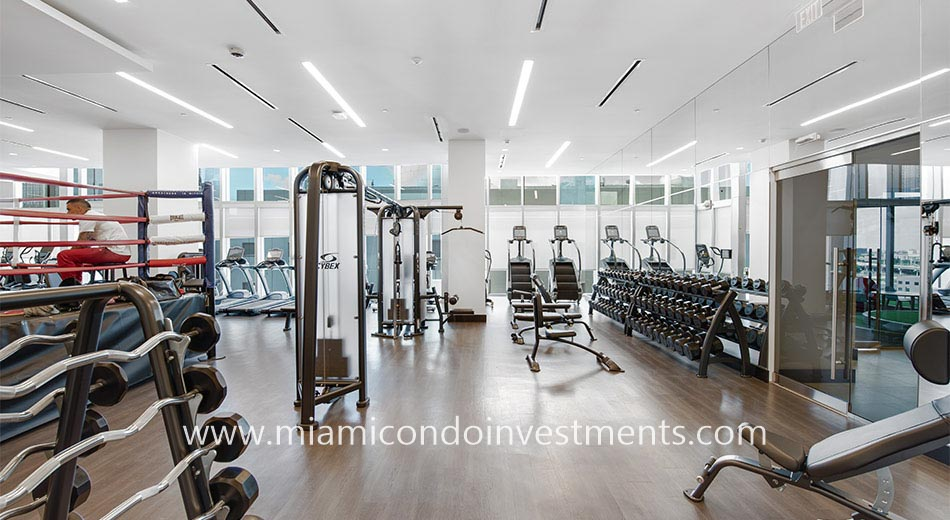 fitness center at Paramount Miami