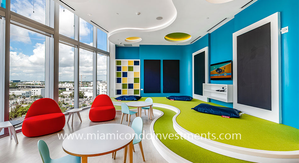 children's playroom at Paramount Miami