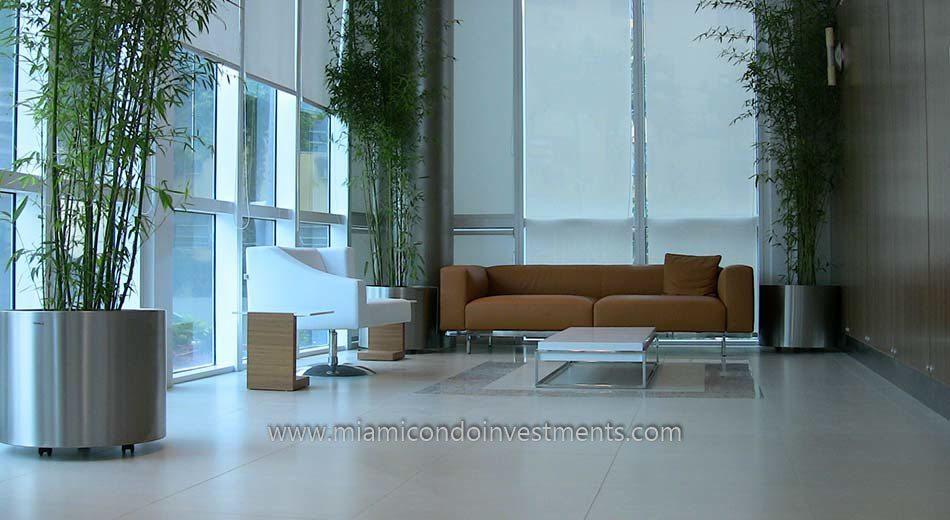 Platinum condominium lobby miami condos