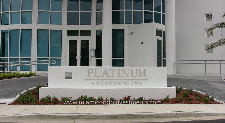 Platinum Condominium driveway miami