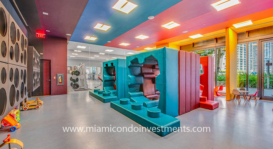 children's playroom at Reach Brickell City Centre