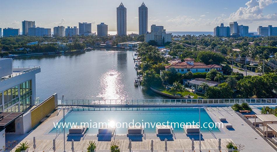east views from pool at Ritz-Carlton Miami Beach