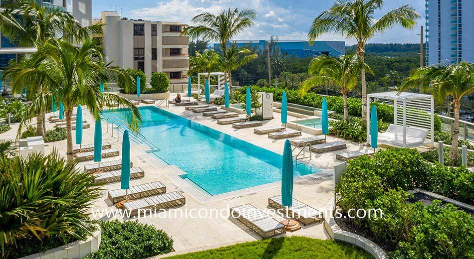 lap swimming pool at Ritz-Carlton Sunny Isles Beach