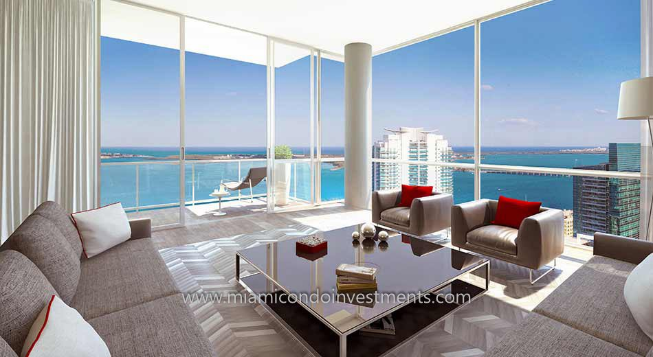 The Bond on Brickell living room
