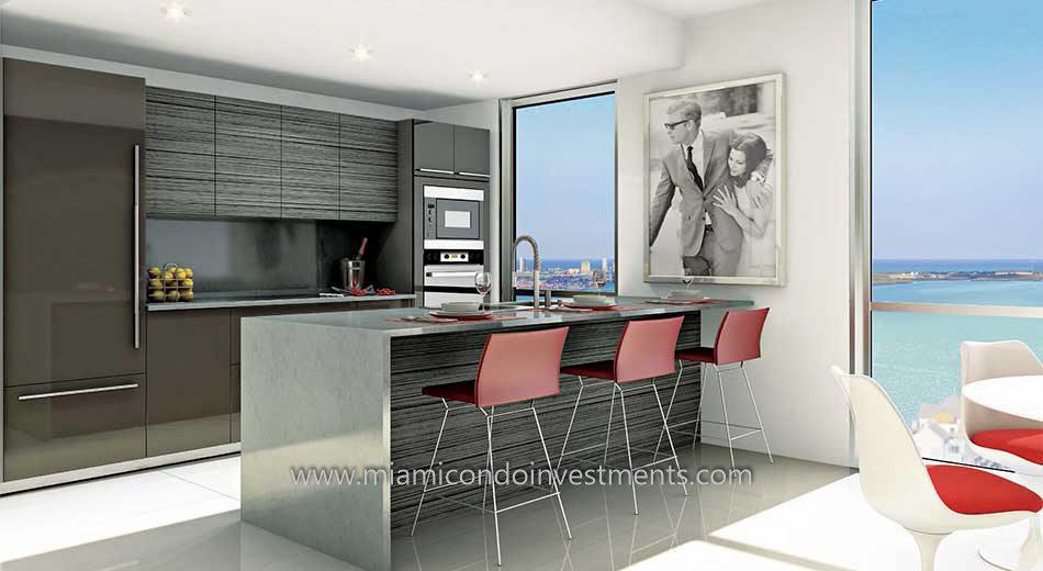 The Bond on Brickell kitchen