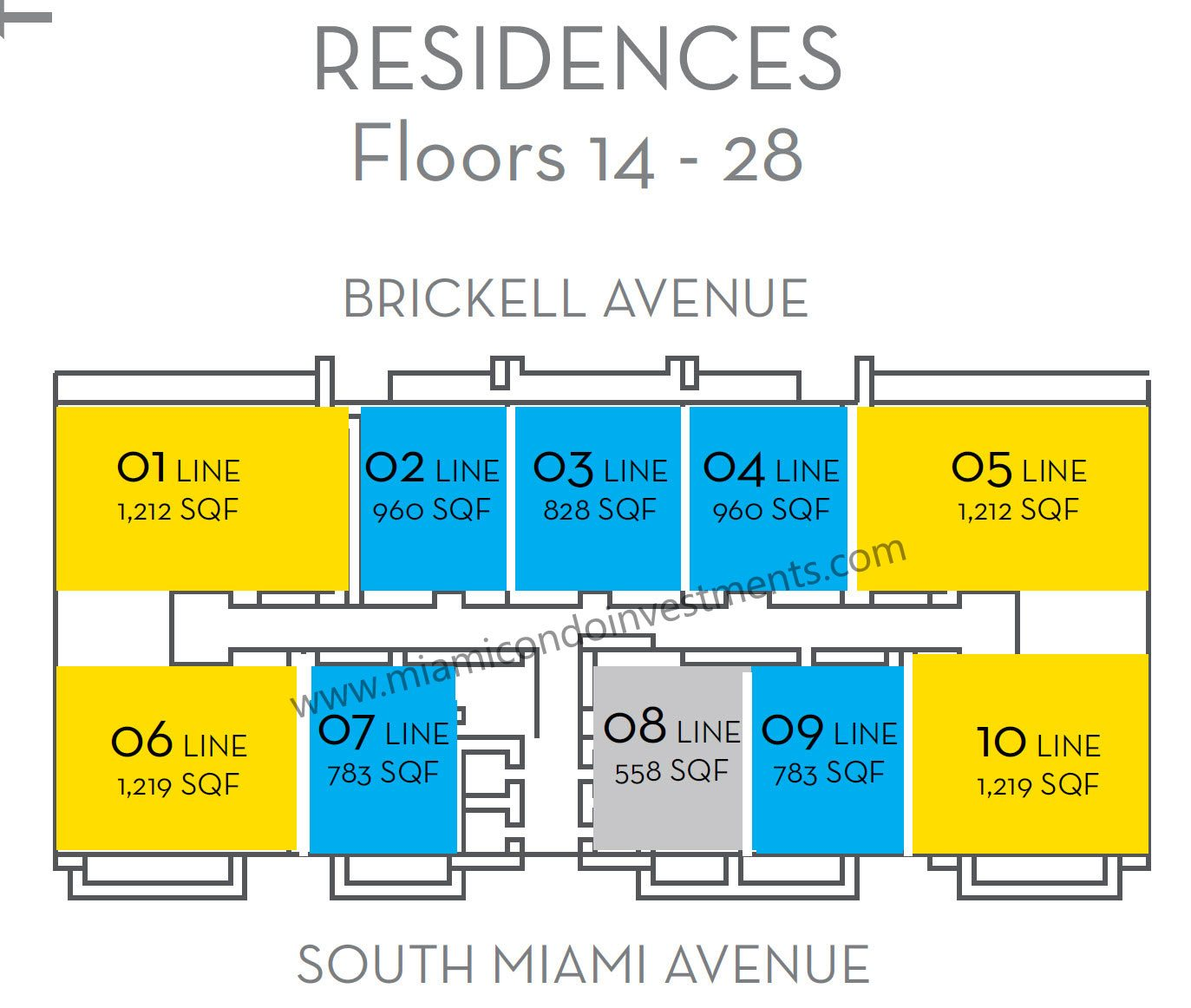 the-bond-on-brickell-floors-14-to-28-key-plan