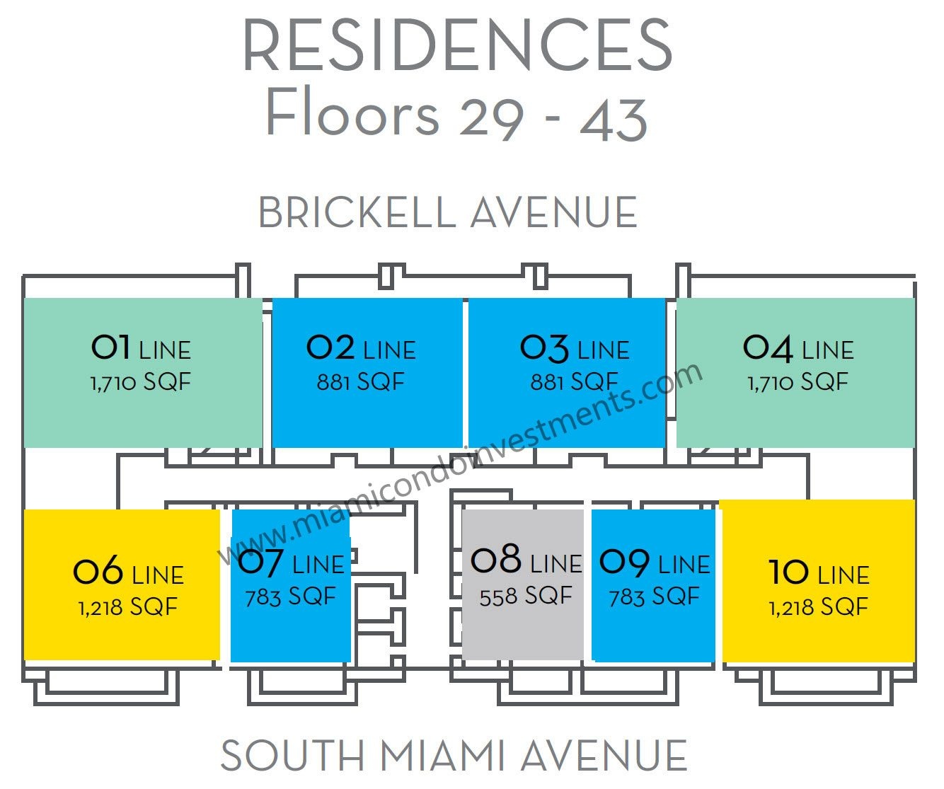 the-bond-on-brickell-floors-29-to-43-key-plan