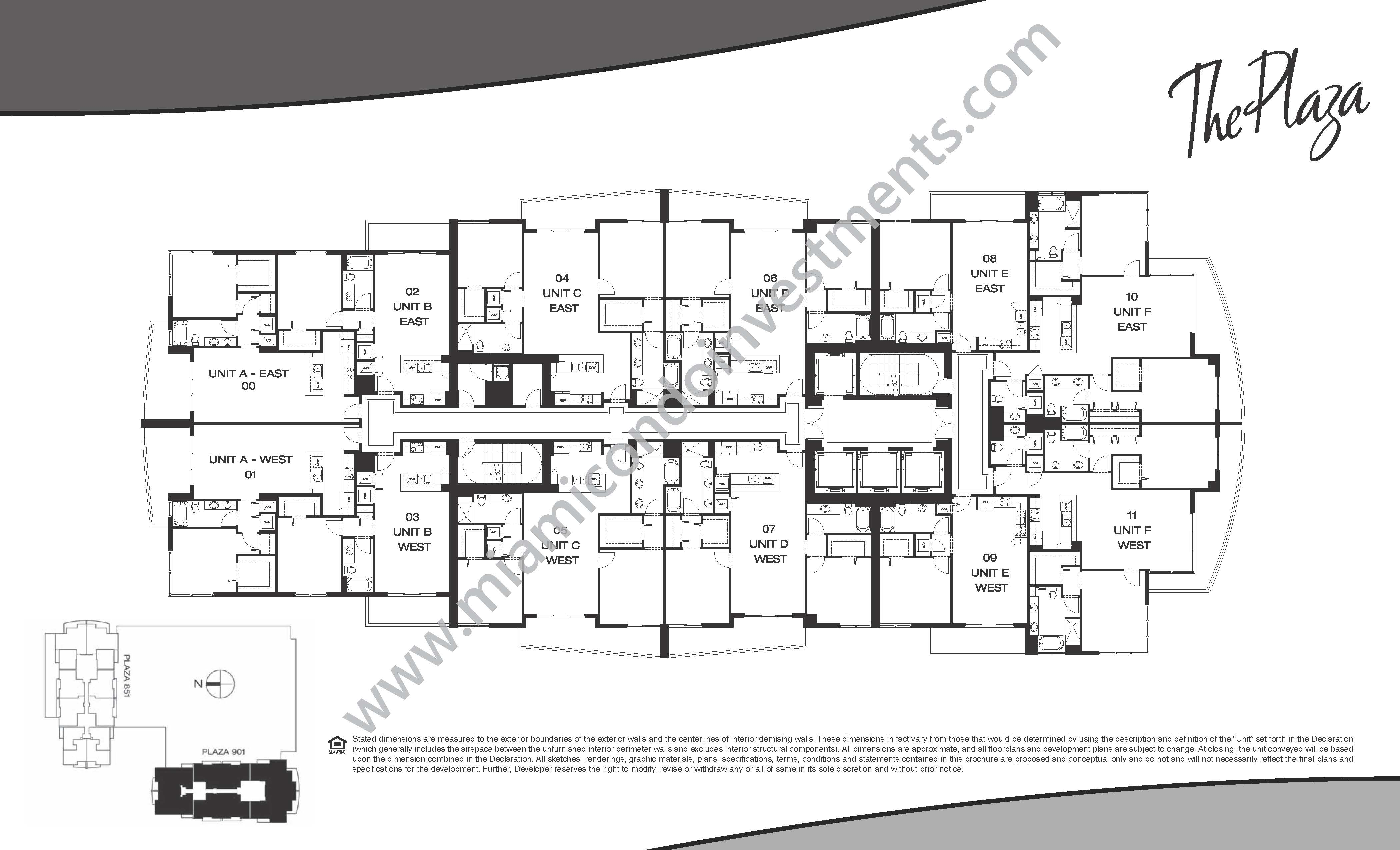 the-plaza-on-brickell-west-condos-site-plan