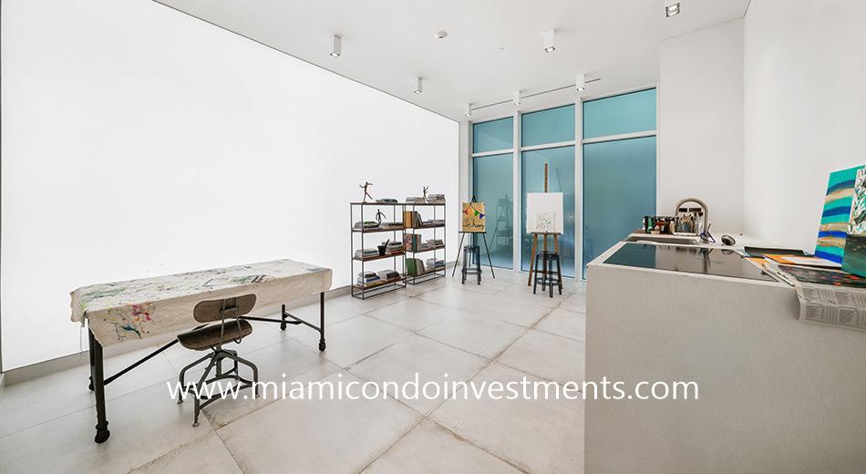 art studio at Ritz-Carlton Residences Miami Beach