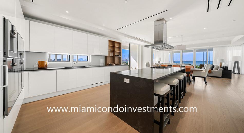 Boffi kitchen at The Ritz-Carlton Residences Miami Beach