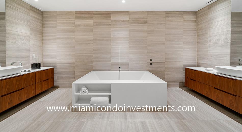 master bathroom at The Ritz-Carlton Residences Miami Beach
