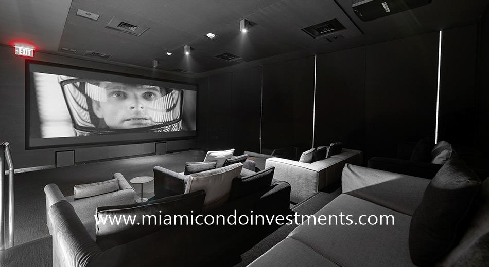 screening room at The Ritz-Carlton Residences Miami Beach