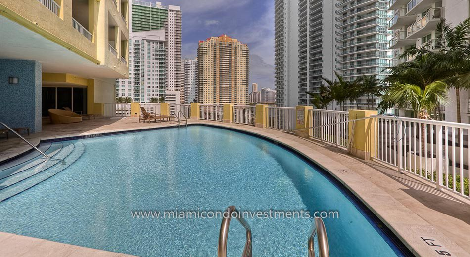The Sail Brickell condo pool