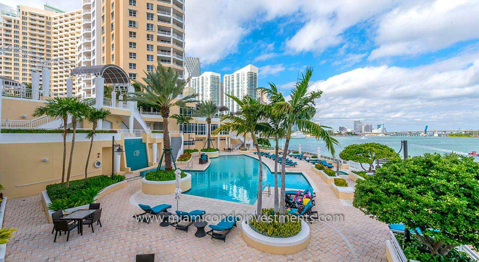Three Tequesta Point condos pool deck