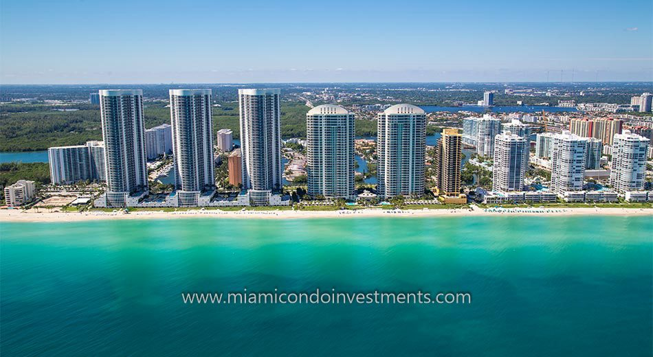 Trump Towers I beachfront condos miami