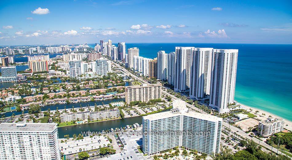 Trump Towers II condos sunny isles beach exterior