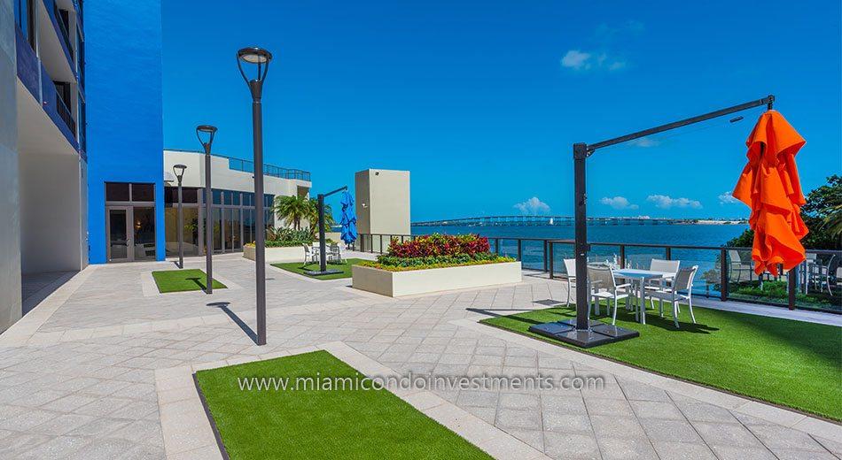Villa Regina condominiums terrace