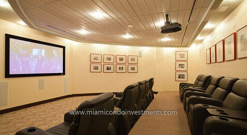 Vizcayne North condos miami theater room