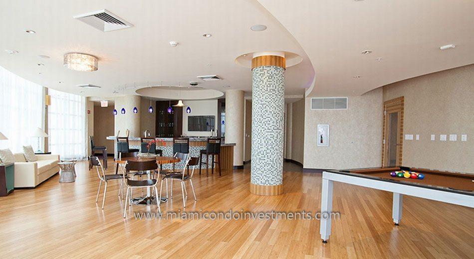 Vizcayne South tower miami condo club room