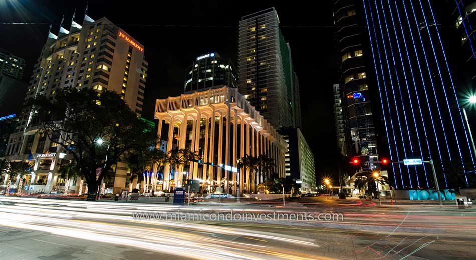 Brickell condos night shot