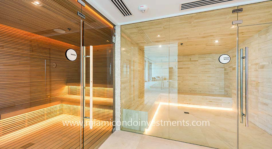 One Paraiso sauna and steam room
