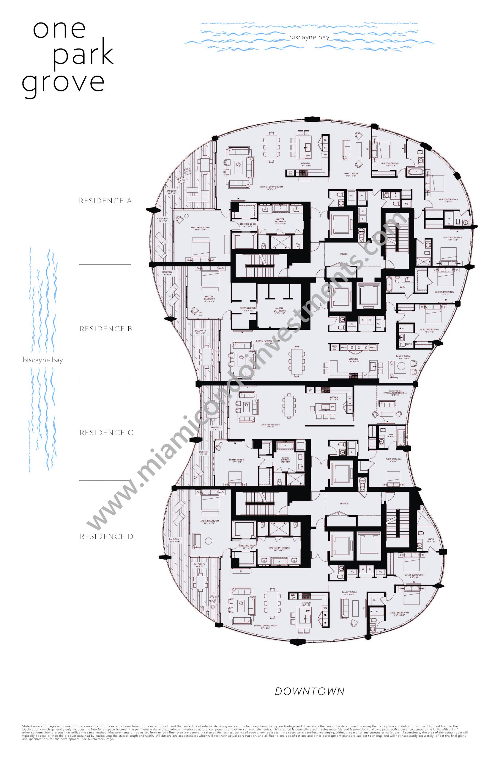 Floorplans 1 - Residences