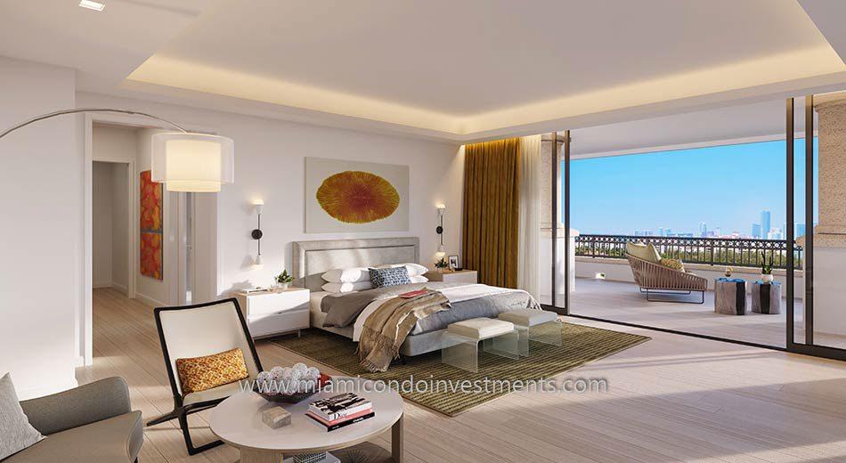 master bedroom at Palazzo Della Luna
