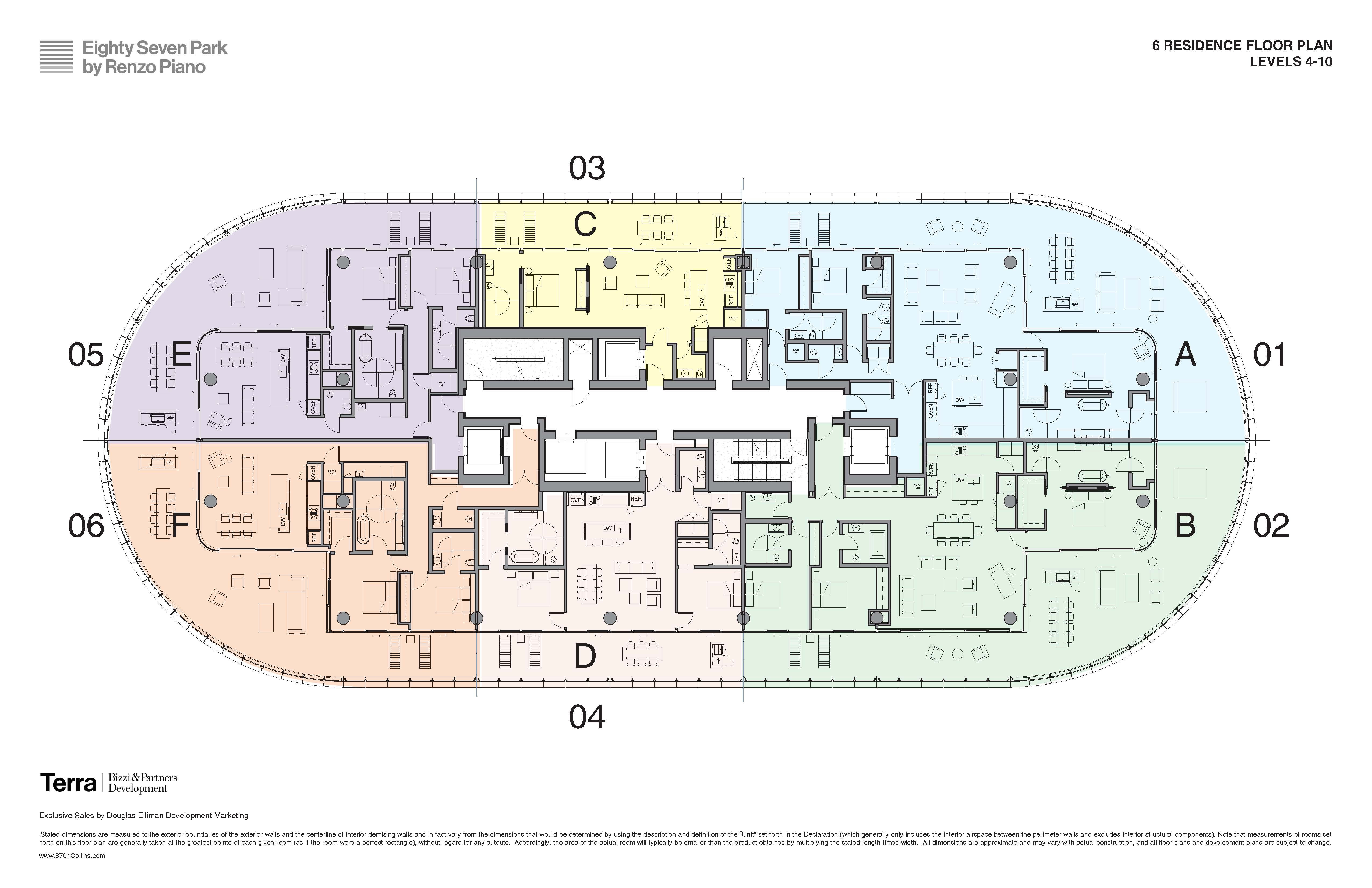Floorplans 1 - Site Plan Floors 4-10