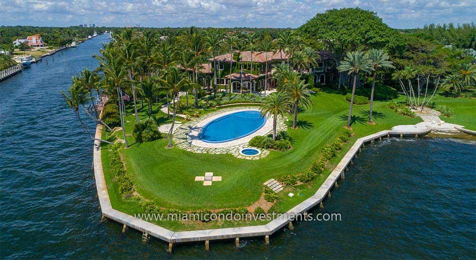 waterfront estates on Gables Estates in Coral Gables