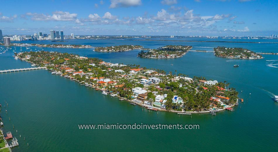 aerial view of Hibiscus Island homes