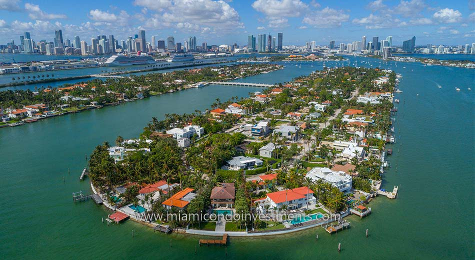 Hibiscus Island homes in Miami Beach