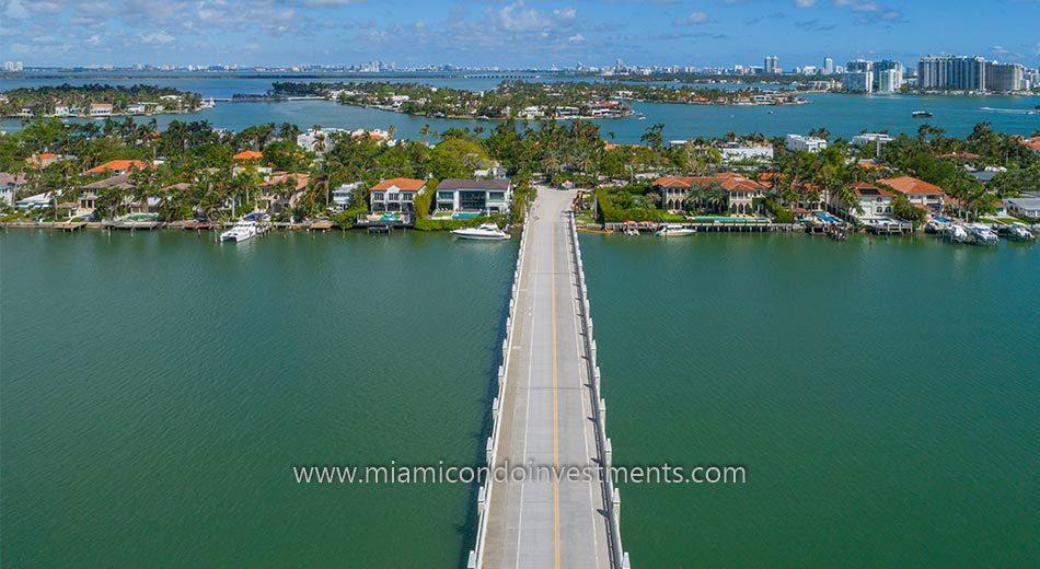 road to Hibiscus Island Miami Beach