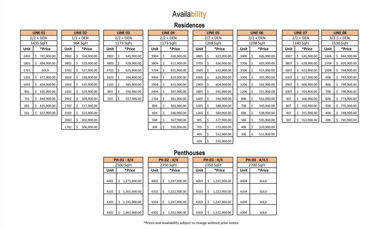 IconBay 2012 preconstruction price list