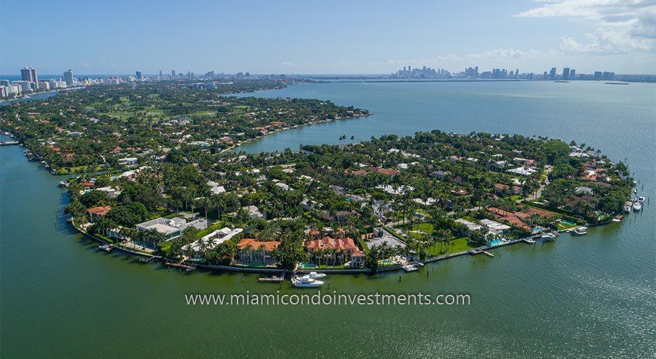 La Gorce Island homes in Miami Beach