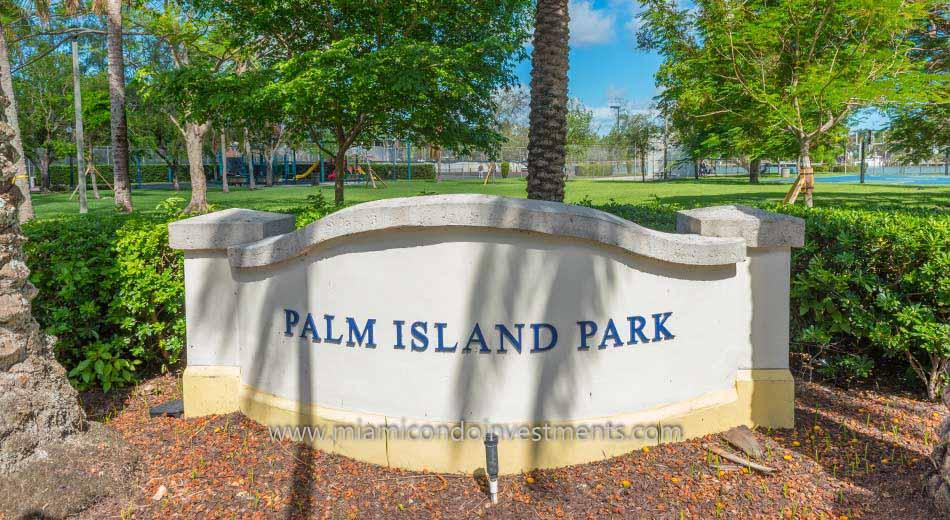 Palm Island Park in Miami Beach