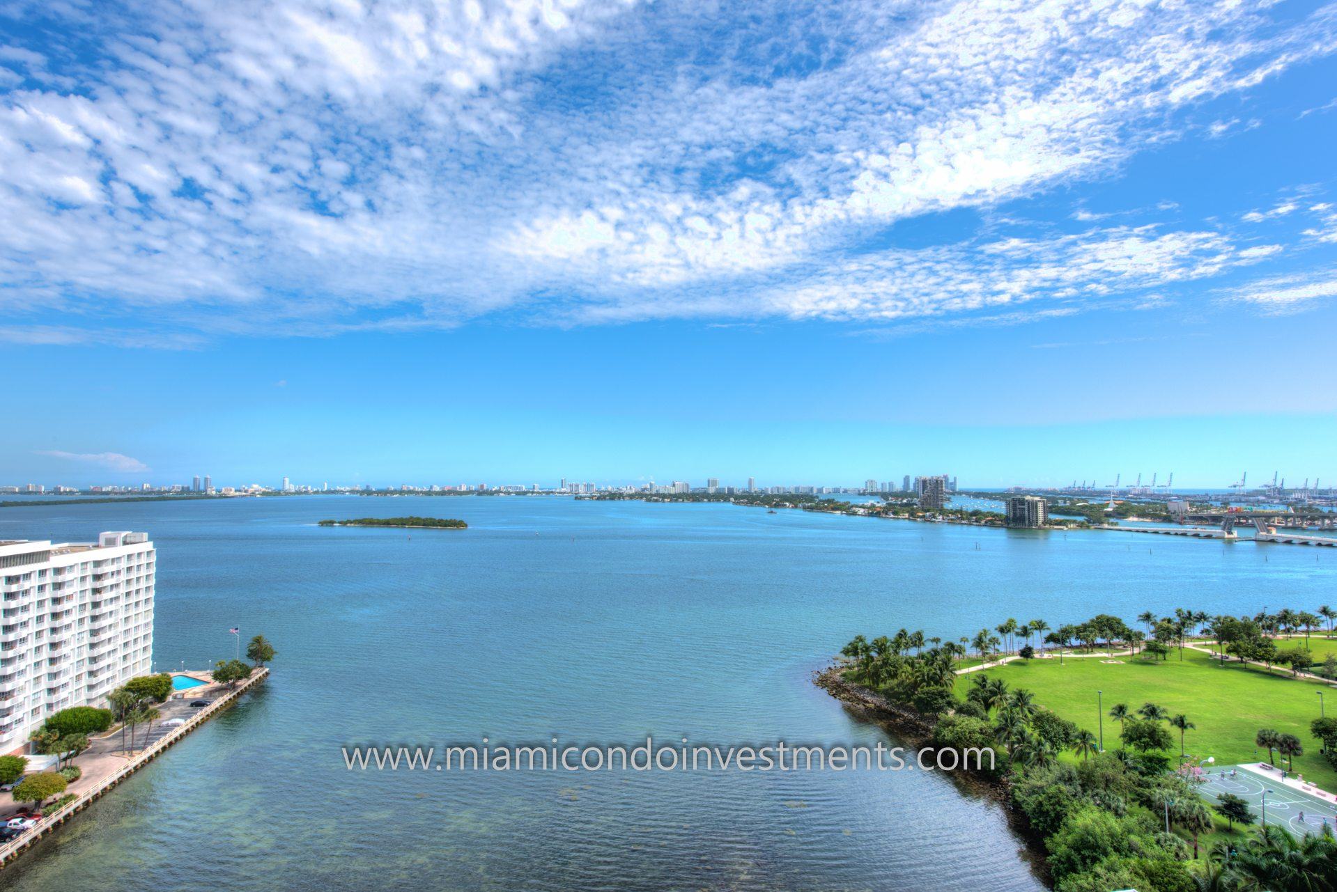 picturesque views from Paramount Bay condo