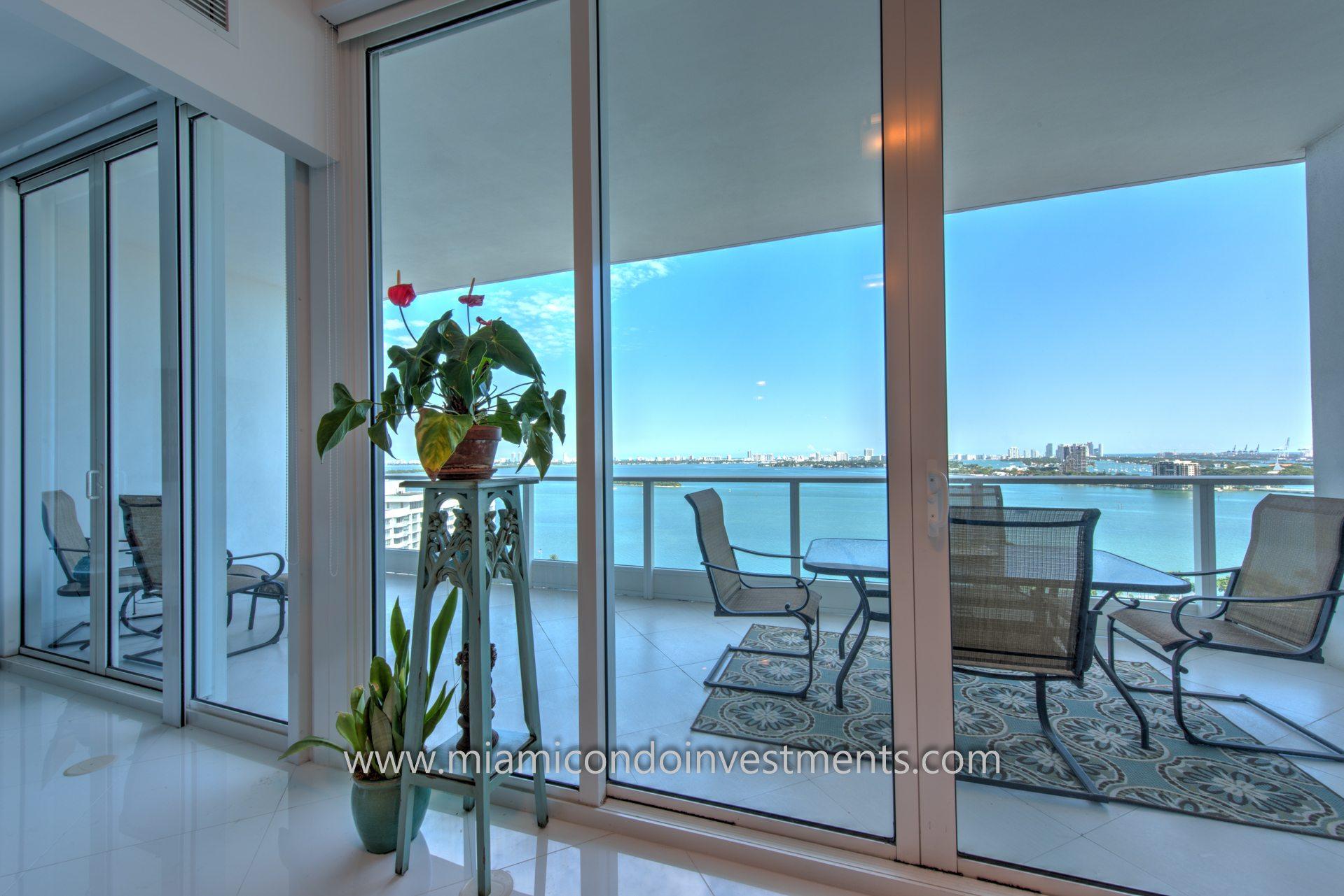 Direct bay views from Paramount Bay condo in Miami