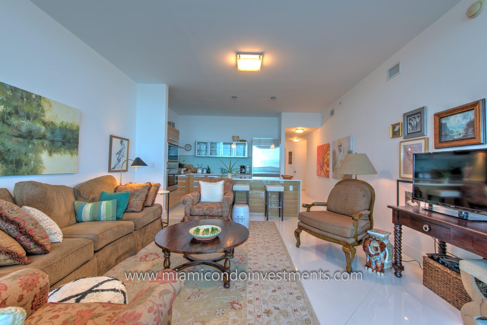 spacious living room at Paramount Bay