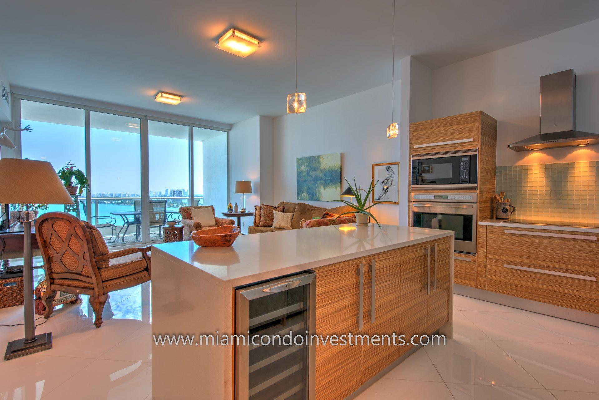 Paramount Bay Miami condos - view from kitchen